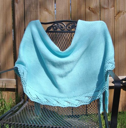 aqua waves knit wrap 1