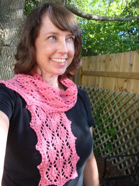easy leaves scarf knit pattern 2