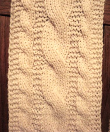 Knitting Pattern For Reversible Scarf : Reversible Cables